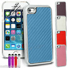 Hard Shelll Carbon Fiber Case Cover for iPhone 5 5S