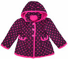 Girl's Ex Chain Store Purple Polka Dot Hooded Winter Coat Baby 9 Mth - 6 Yrs NEW