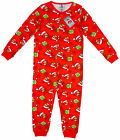 Boys Angry Birds Xmas Romper Popper Sleepsuit Red Christmas Pyjamas 5-12 Yrs NEW