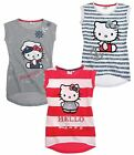 3 x HELLO KITTY T-Shirts 3er Pack 100% Baumwolle T-Shirts Gr. 128-164 [NEU]