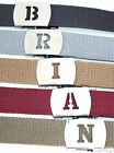 Military Canvas WEB Belt A to G SILVER Buckle INITIALED