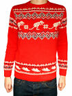 Christmas Xmas Dinosaur JUMPER vtg indie retro kitsch Red black 80's festive