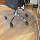 Office Home Chair Mat Floor Protector Frosted PVC Plastic New 90x120cm