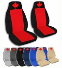 2 Front Maple Leaf Velvet Seat Covers with 7 Color Options