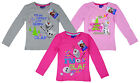 Girls Official Disney FROZEN Olaf Snowman Long Sleeve Cotton Top 4 5 6 8 Yrs NEW