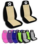 2 Front Soccer Velvet Seat Covers with 15 Color Options