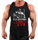 LIMITED EDITION BORN IN THE GYM BODYBUILDING VEST GYM CLOTHING BLACK K-131