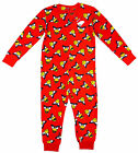 Boy's Official Angry Birds Fleece Zip All in One Romper Sleepsuit 5 - 12 Yrs NEW
