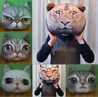 Cartoon Home Decor 3D Cat Animal Face Head Sofa Gift Plush Cushion Pillow Toy