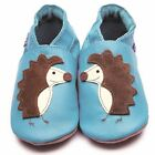 Inch Blue Baby Girls Boys Luxury Leather Soft Sole Pram Shoes - Spike Turquoise
