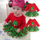 Girls Baby Christmas Tress Tulle Bow Dress Xmas Holidays Clothing Custom  No22FB