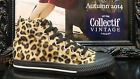 Collectif Faux Fur Leopard Hi Top Vulcanized Trainers Black Sole Punk trainers