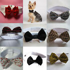 Fashion Velcro Adjustable Bow Tie Collar Dickie Necktie Bowknot For Pet Cat Dog