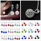 Genuine CZ Crystal Valentine's GIFT 925Silver Necklace Silver Earring Sets +Box