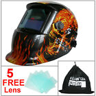 Leopard Auto Darkening Welding Helmet Mask Welders Grinding Solar Powered Red