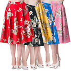 Hell Bunny Candy Tropical Hawaii Rockabilly Vintage 50s Party Summer Swing Skirt