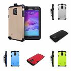Belt Clip Holster Cover Dual Layer Hybrid Armor Case for Samsung Galaxy Note 4
