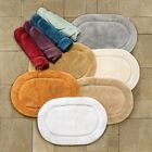 Superior Collection Luxurious Cotton Non-skid 2-Piece Oval Bath Rug Set