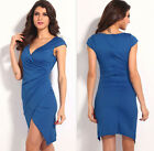 New Sexy Midi Dress Party Costume Luxury High Waisted Slim Alluring V-neck