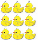 Wholesale Popular Rubber Duck Enamel Metal Charm Pendants DIY Jewelry Making E75