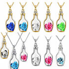 CHIC Women 9K White Gold Filled AAA CZ & Heart Shape Crystal Necklace & Pendant