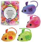 TIE DYE MICE - Lots 20/40 Catnip Alternative Honeysuckle Plush Cat Kitten Toys