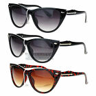 Womens Retro Goth Cat Eye Designer Fashion Diva Gradient Sunglasses