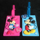 Mickey & Minnie Travel Suitcase Bags Luggage School Tags Kids Name Labels