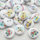 New 100/500pcs Boy Car Plane UFO Wood Buttons 15mm Sewing Craft Mix Lots T0713