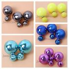 4/20pcs Trendy Colorful UV Plated ABS Studs Earrings Nice Jewelry Crafts Lots J