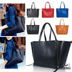 NEW Women's REAL LEATHER LARGE Shoulder Cross-body SHOPPER TOTE HOBO Handbag Bag
