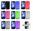 Huawei Tribute Fusion 3 Y536A1 (AT&T) Soft TPU Gel Phone Case + Screen Protector