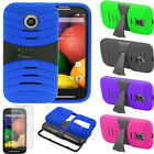 Film +Shockproof Defender Hard Matte Stand Cover Case For Motorola Moto E XT1022
