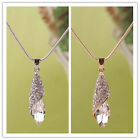 In 2 Color Women 14K Gold Filled Austrian Crystal Pendant Chain Necklace Jewelry
