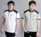 Mens Designer Voi Jeans Casual Polo T Shirt Pique Contrast Collar Tee Top Grant