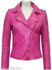 Gloria Ladies Brando Mauve Biker Style Fashion Soft Napa Veg Leather Rock Jacket