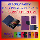 ACM-MERCURY PREMIUM DIARY FLIP FLAP CASE for SONY XPERIA ZL MOBILE WALLET COVER