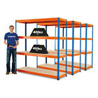 3 Bays Of Racking Boltless Garage Storage Mega Deal Stockroom 3 Colours BiGDUG