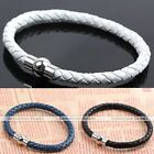 Popular PU Leather Woven Magnetic Clasp Bracelet Bangle Multicolor Unisex  HOT