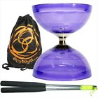 JuggleDream Hurricane Triple Bearing Diablo (Purple) Metal Diabolo Sticks & Bag