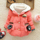 Kids Girl Clothes Winter Snowsuit Coat Kids Red Dot Jacket with Button 0-4 Years