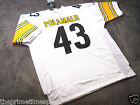TROY POLAMALU 43 Pittsburgh Steelers White NFL Jersey ALL SIZES AVAILABLE