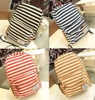 Retro Style Stripe Canvas Travel Satchel Shoulder Bag Backpack School Rucksack