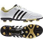 ADIDAS MENS  FOOTBALL BOOTS 11 CORE TRX FG SOCCER SHOES LEATHER WHITE/GOLD/BLACK