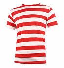 NYC Short Sleeve PUNK GOTH Emo mime Stripe Striped T Shirt Red White S M L XL