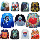 New Womens Mens 3D Space Galaxy Sweaters Animal Sweatshirt Pullover Unisex Tops