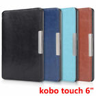 "Slim Leather Magnetic Cover Case for Kobo touch 6"" eReader"