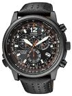 Citizen Promaster Black Radio Chrono Nighthawk Euro Sapphire Watch AS4025-08E