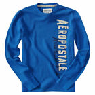 Aeropostale T Shirt  Mens Long Sleeve Thermal Xl Blue Style 2065 V096