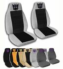 2 Front Decepticon Velvet Seat Covers 15 Color Options 2013-2015 Ford Mustang